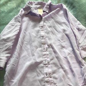 Light purple kids button down shirt
